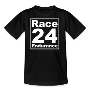 Race24 Logo - White - Kids' T-Shirt