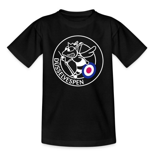Düsselvespen Weiß Rot Blau Vereinfacht Mittel - Kinder T-Shirt
