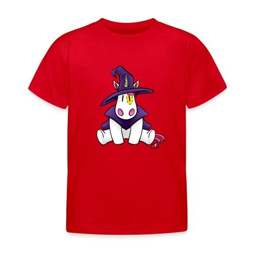 Einhorn als Hexe zu Halloween - Kinder T-Shirt