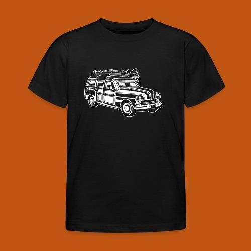 Chevy Cadilac Woodie / Oldtimer Kombi 01_weiß - Kinder T-Shirt
