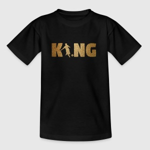 KING Soccer! Soccer! Ball! Present! - Kids' T-Shirt