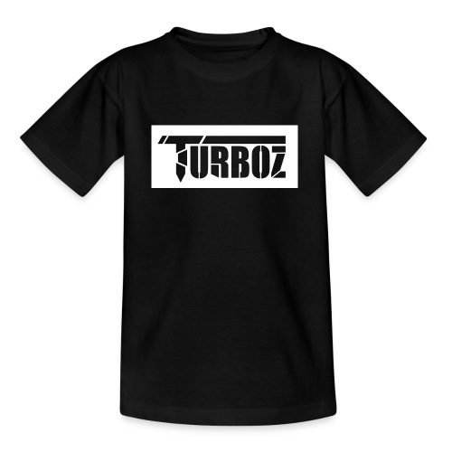 white Turboz background - Kids' T-Shirt
