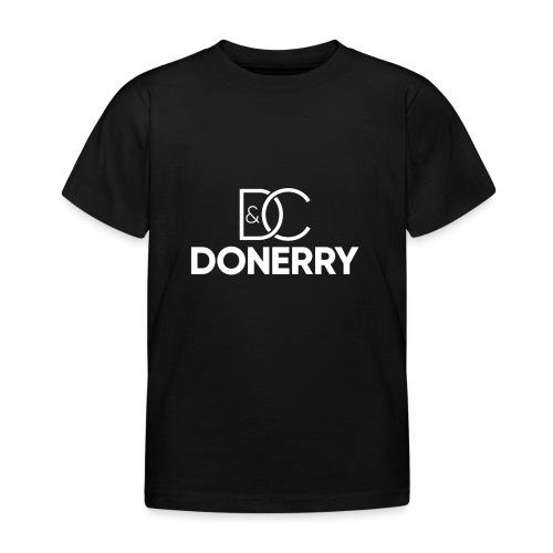 DONERRY New White Logo on Dark - Kids' T-Shirt
