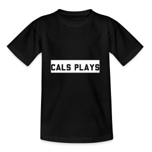 Cals Plays Text White - Kids' T-Shirt