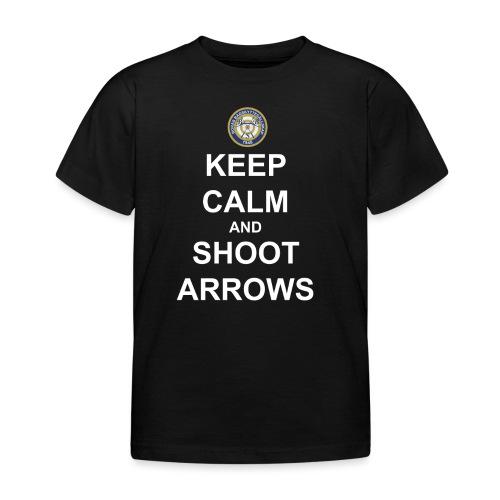 Keep Calm and Shoot Arrows - Vit text - T-shirt barn