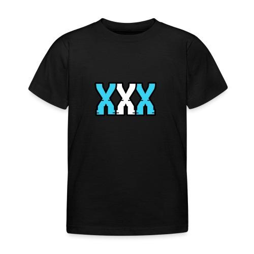 XXX (Blue + White) - Kids' T-Shirt