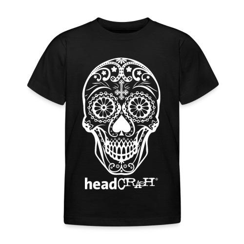 Skull & Logo white - Kinder T-Shirt