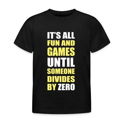 Divide by Zero - Koszulka dziecięca