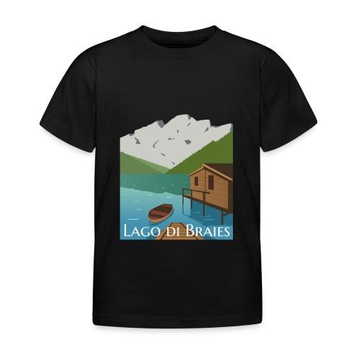 Illustrazione Lago di Braies - Maglietta per bambini