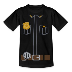 Police Tee Black edition - Kids' T-Shirt