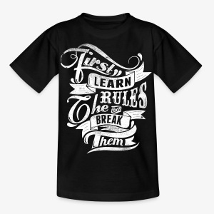 First Learn Rules - Kids' T-Shirt