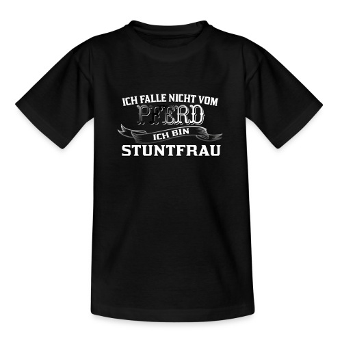 Ich falle nicht vom Pferd ich bin Stuntfrau Reiten - Kinder T-Shirt
