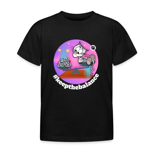 Astrokatze Waage - Kinder T-Shirt