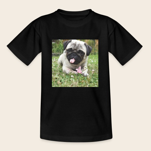 Mops Wiese - Kinder T-Shirt