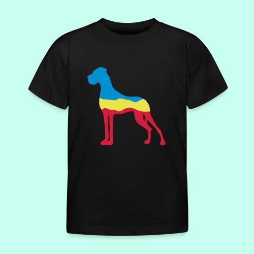 Flaggen Dogge - Kinder T-Shirt
