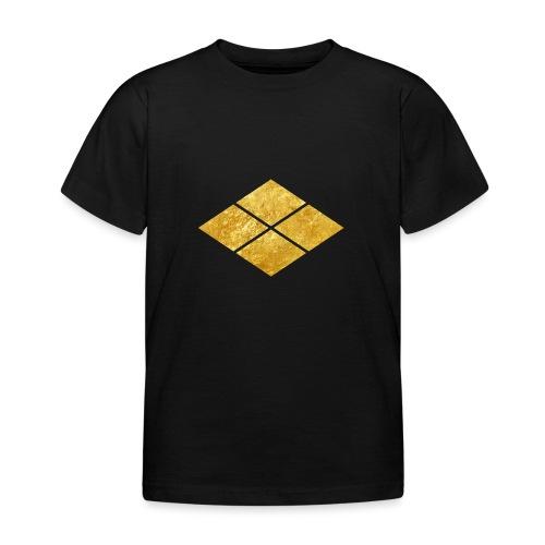 Takeda kamon Japanese samurai clan faux gold - Kids' T-Shirt