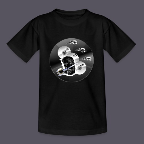 schwarze Schmuck CD - Kinder T-Shirt