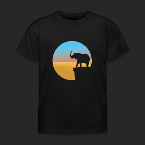 Sunset Elephant - Kids' T-Shirt