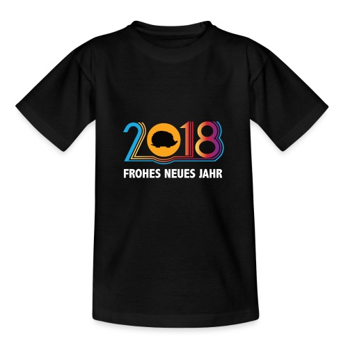 Frohes neues Jahr 2018 Igeldesign - Kinder T-Shirt