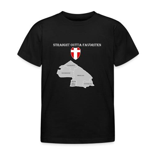 straight outta favoriten wien weiß - Kinder T-Shirt