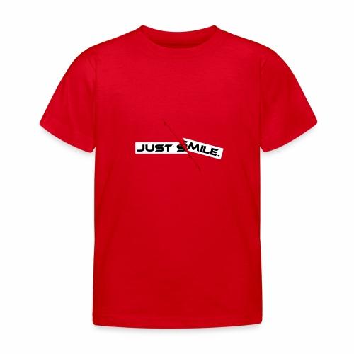JUST SMILE Design mit blutigem Schnitt, Depression - Kinder T-Shirt