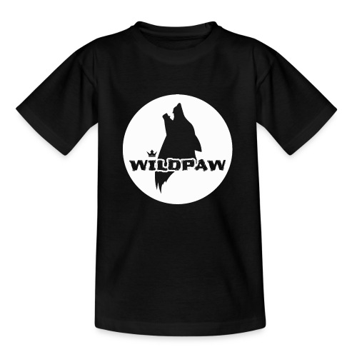 Wildpaw logo circular transparent mono WHITE - Kids' T-Shirt