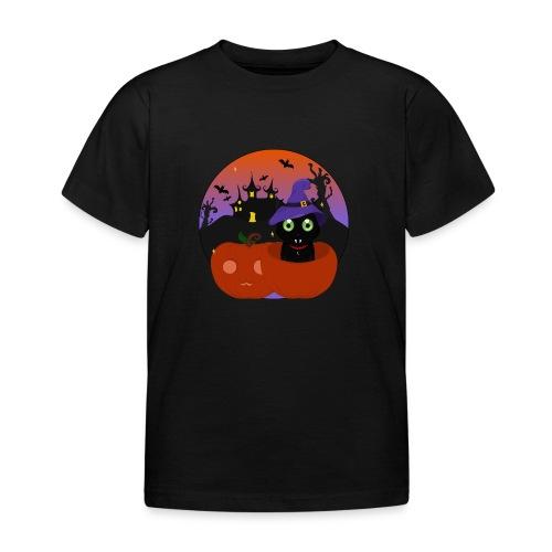 Halloween & the cat - T-shirt Enfant