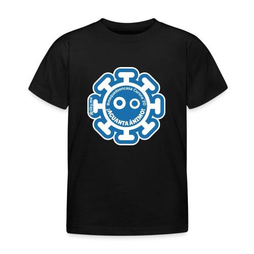 Corona Virus #mequedoencasa blu - Maglietta per bambini