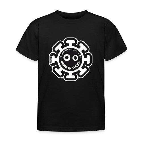 Corona Virus #stayathome nero - Maglietta per bambini