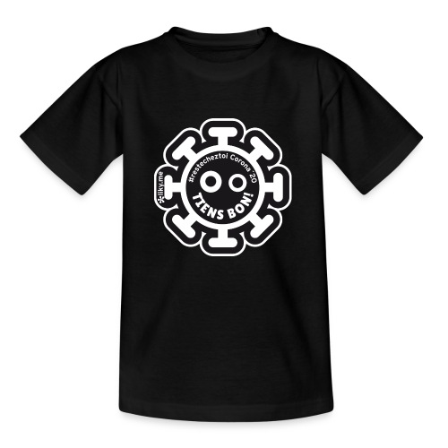 Corona Virus #restecheztoi noir - Camiseta niño