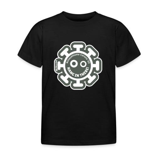 Corona Virus #stayathome grigio - Maglietta per bambini