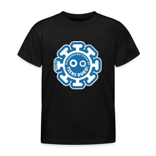 Corona Virus #rimaneteacasa azzurro - Camiseta niño