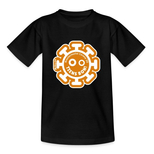 Corona Virus #restecheztoi arancione - Maglietta per bambini