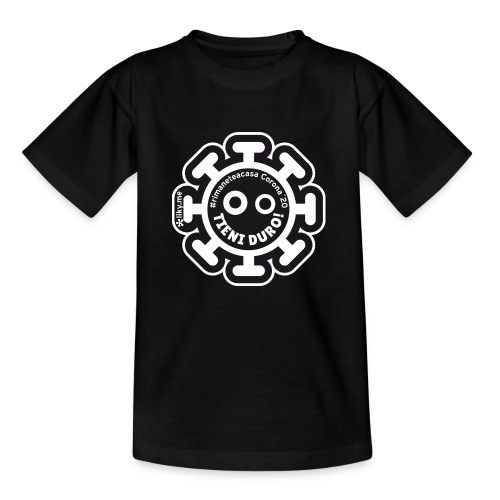 Corona Virus #rimaneteacasa nero - Kids' T-Shirt