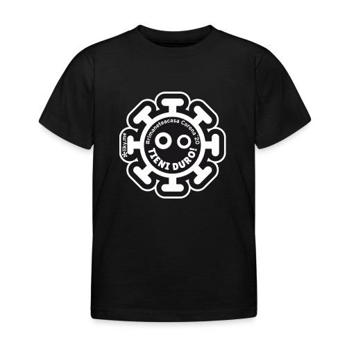 Corona Virus #rimaneteacasa nero - Maglietta per bambini