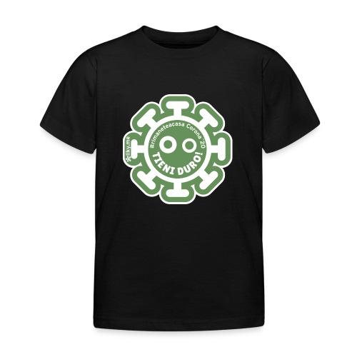 Corona Virus #rimaneteacasa verde - Camiseta niño