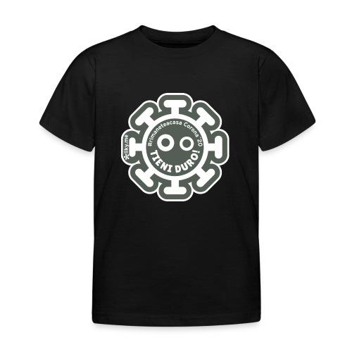 Corona Virus #rimaneteacasa grigio - Camiseta niño