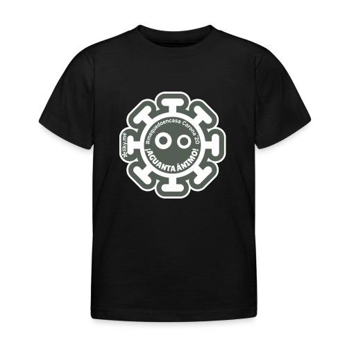 Corona Virus #mequedoencasa gris - Camiseta niño