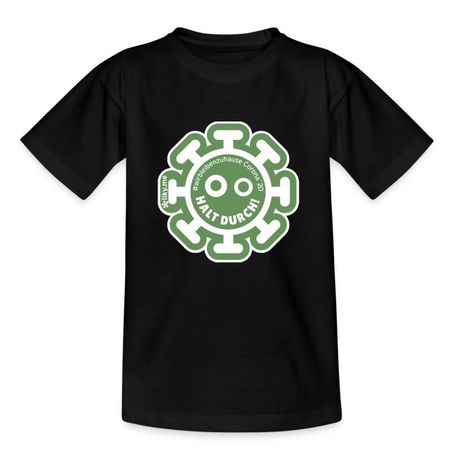 Corona Virus #WirBleibenZuhause grün