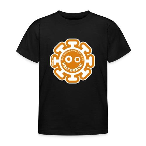 Corona Virus #WirBleibenZuhause arancione - Maglietta per bambini
