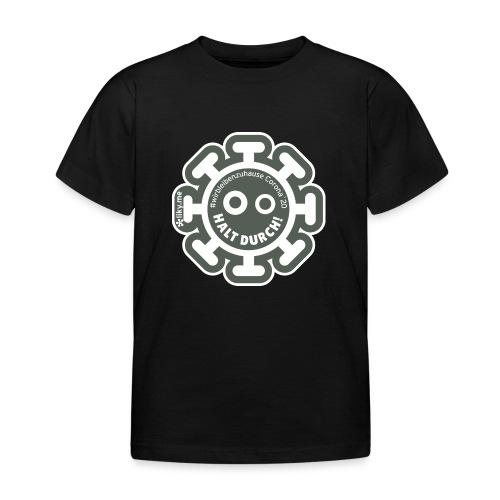 Corona Virus #WirBleibenZuhause grau - Camiseta niño