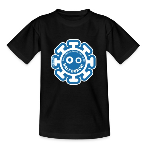 Corona Virus #WirBleibenZuhause blau - Camiseta niño