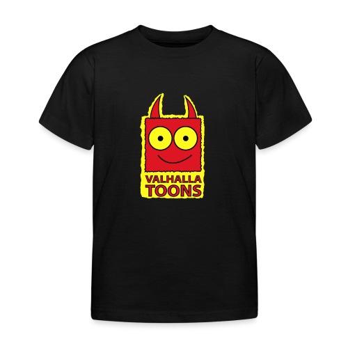 Valhalla Design 1 yellow bg - Kids' T-Shirt