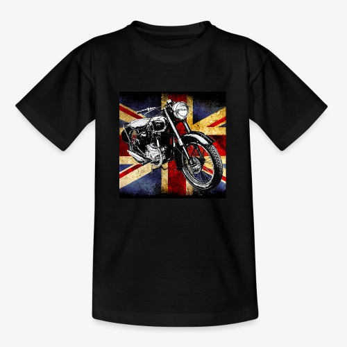 BSA motor cycle vintage by patjila 2020 4 - Kids' T-Shirt