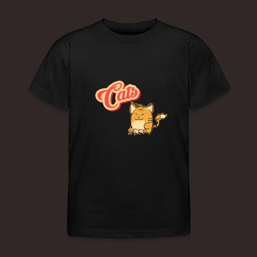 Katze | Katzen süß Schriftzug - Kinder T-Shirt