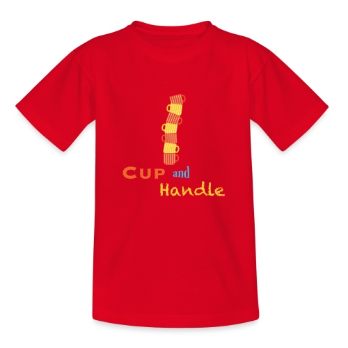 T-Shirt Cup and Handle Traders Stock Market Forex - Maglietta per bambini