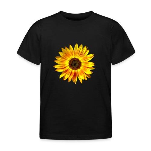 Sonnenblume gelb Sommer - Kinder T-Shirt