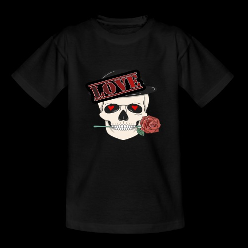 Skull Love - Kinder T-Shirt