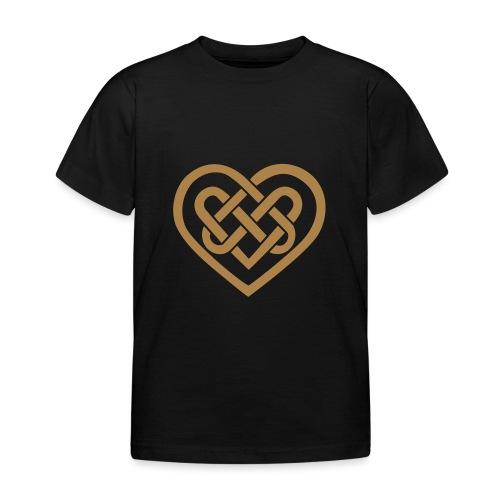 Keltisches Herz Symbol Unendlichkeit Ewige Liebe - Kinder T-Shirt