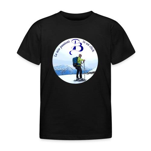Logo cartone ciaspole - Maglietta per bambini